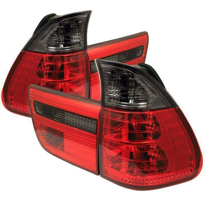 Spyder Red/Smoke Euro Tail Lights - Spyder ALT-YD-BE5300-RS