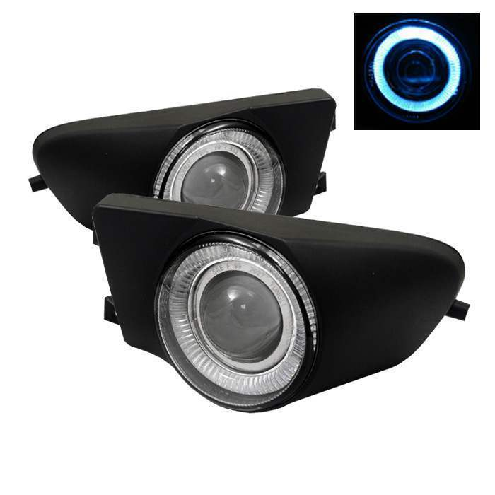 Spyder Clear Halo Projector Fog Lights with Switch - Spyder FL-P-BE3996-HL