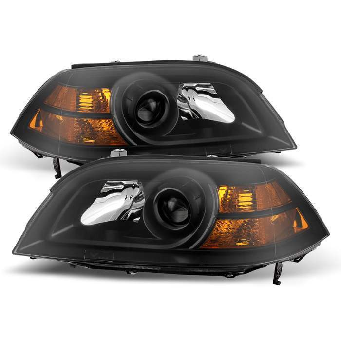 Spyder Black Crystal Headlights - Spyder HD-JH-AMDX04-AM-BK