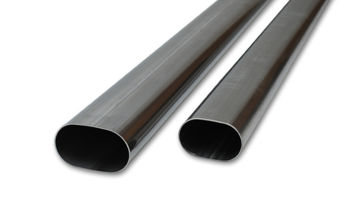 Vibrant Performance 3.5in Oval (Nominal Size) T304 SS Straight Tubing (16 ga) - 5 foot length - Vibrant Performance 13183