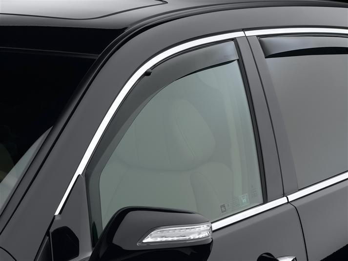 WeatherTech Dark Side Window Deflectors - WeatherTech 80456