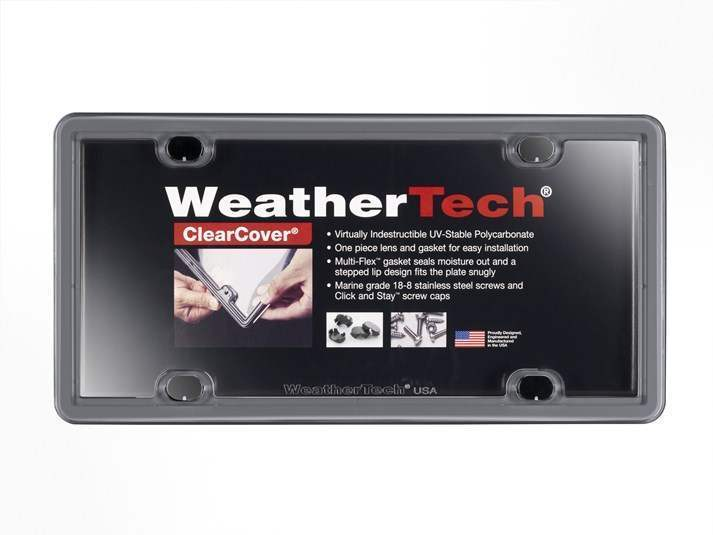WeatherTech Beluga Grey - License Plate Frame With Clear Cover - WeatherTech 8ALPCC15