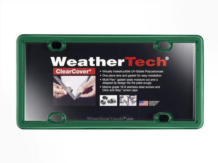 WeatherTech Green - License Plate Frame With Clear Cover - WeatherTech 8ALPCC18