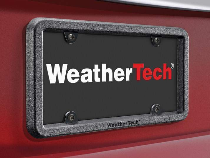 WeatherTech Black - Bump License Plate Frame - WeatherTech 8ALPBF1