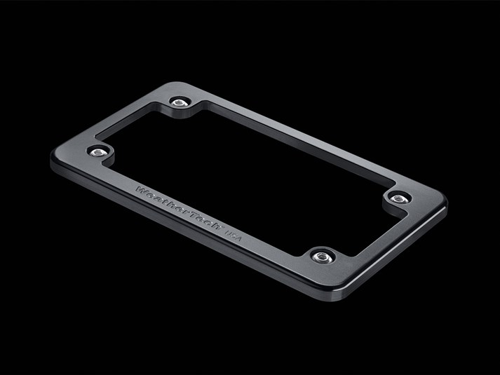 WeatherTech Black - Billet Motorcycle License Plate Frame - WeatherTech 8AMPF1
