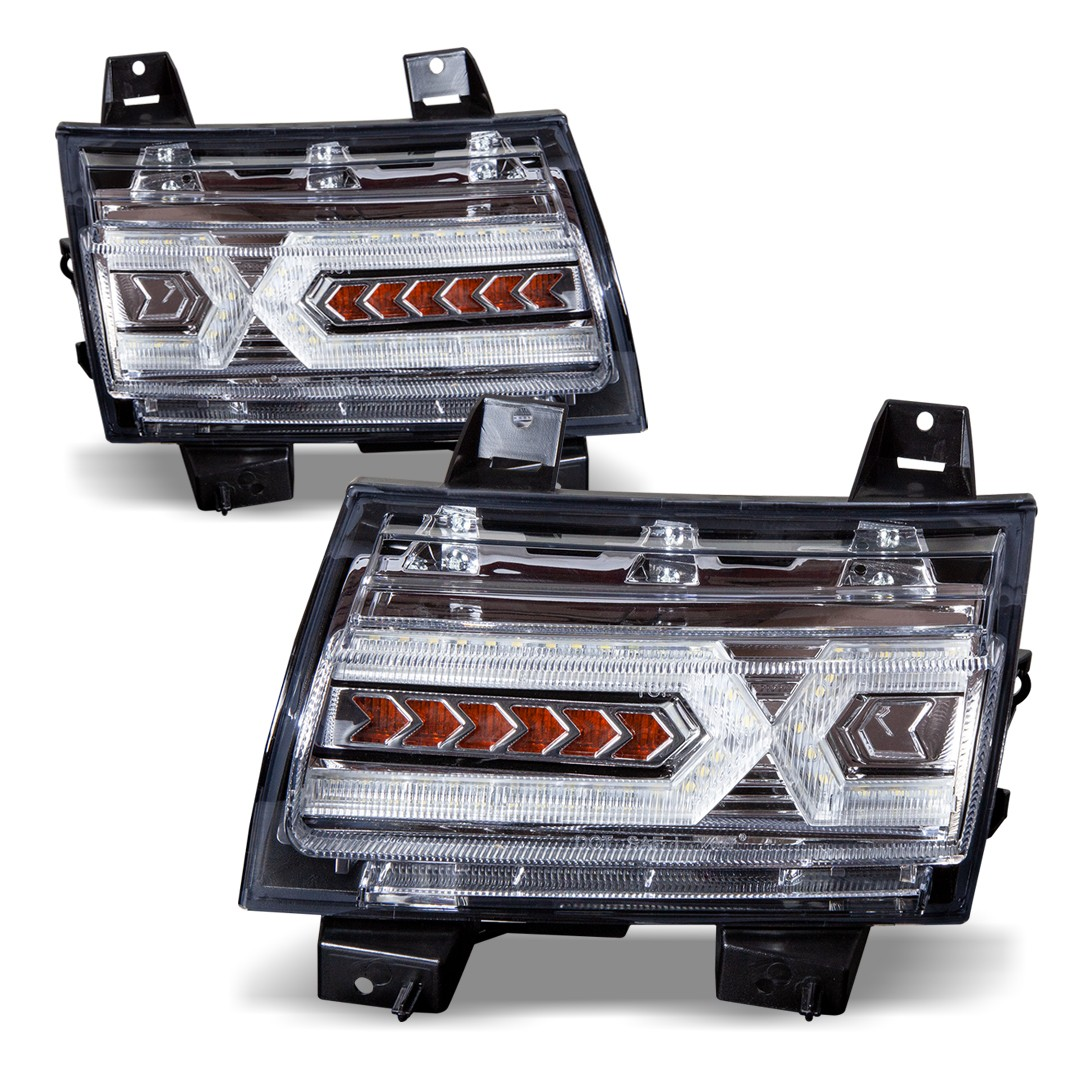 Pair 03-00-CWT-CE343C IPCW CWT-CE343C Crystal Eyes Crystal Clear Tail Lamp
