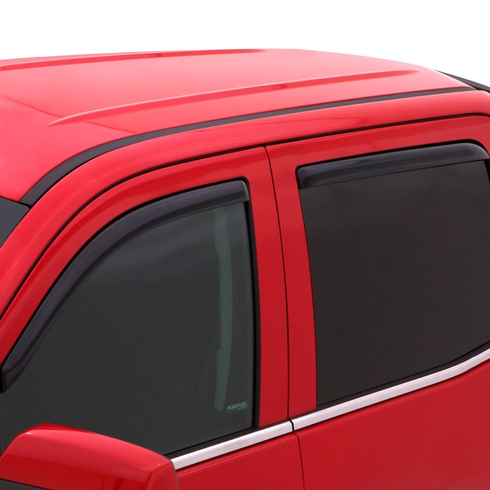 AVS In-Channel Ventvisor Front and Rear Smoke Side Window Vents - AVS 194828