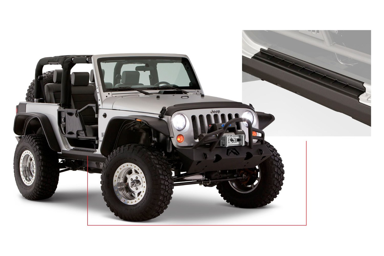 Bushwacker Trail Armor Rocker Panel & Sill Plate Cover - Bushwacker 14073