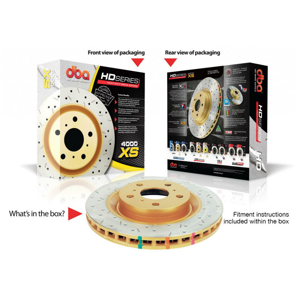 DBA 4000XS Drilled and Slotted Brake Rotors