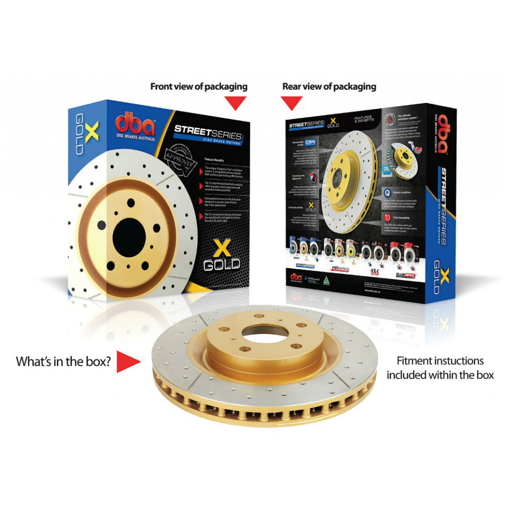 DBA Street Series Cross Drilled and Slotted Brake Rotors