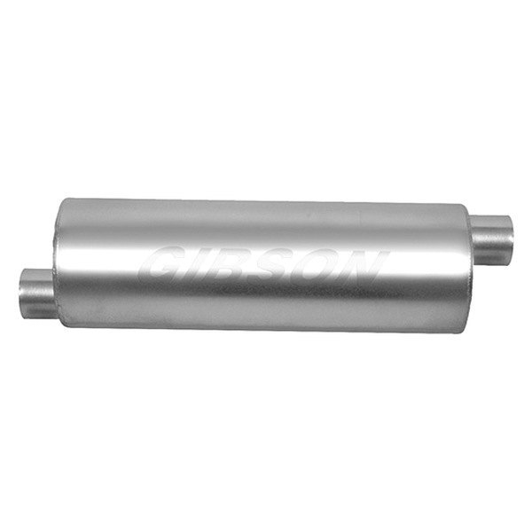 Gibson Stainless SFT Superflow Center/Dual Round Muffler - Gibson 789800S