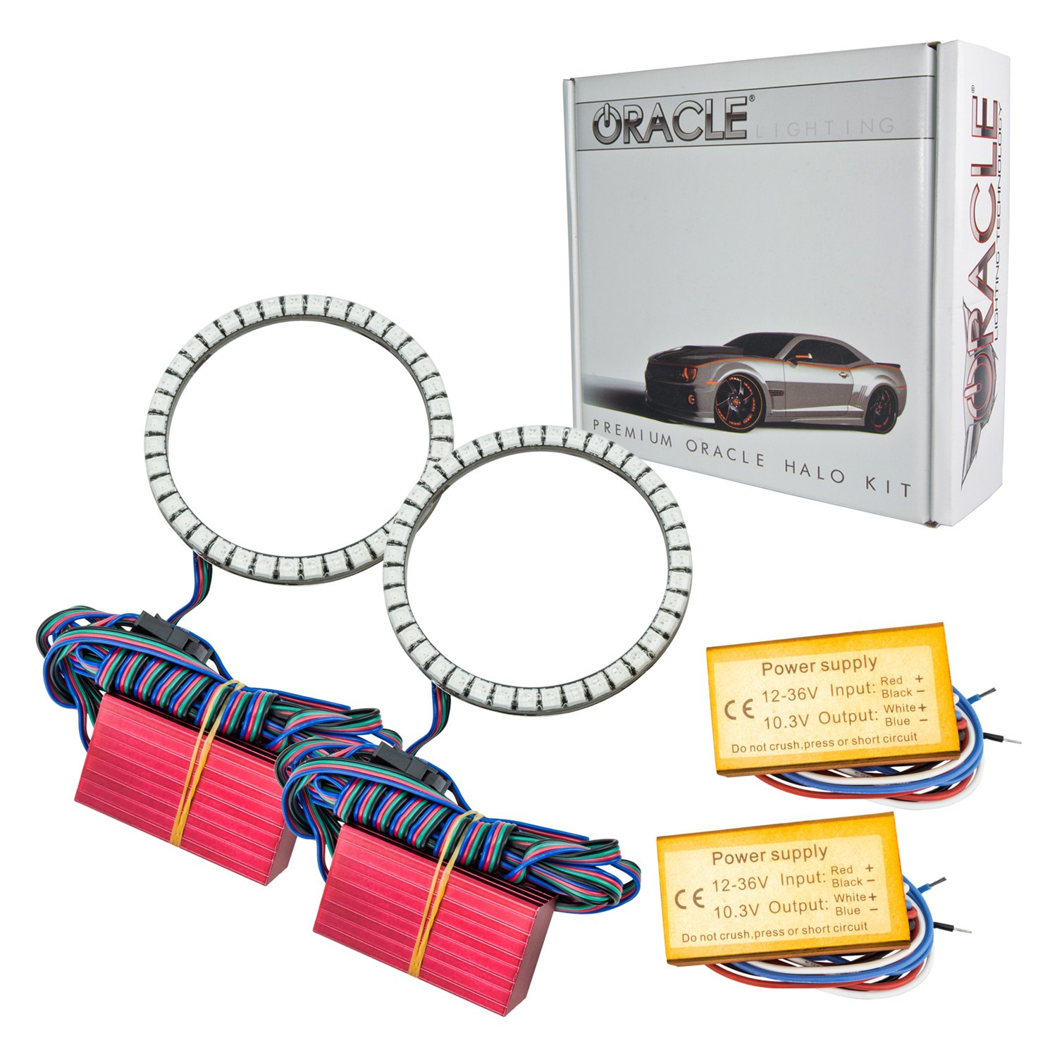 Oracle Lighting SMD Amber Waterproof Halo Kit for Fog Lights - Oracle Lighting 1271-005