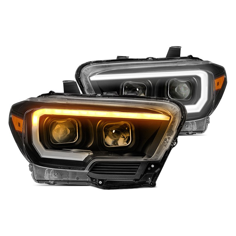 Spyder LED DRL Bar Chrome Projector Headlights - Spyder PRO-JH-ATSX09-LB-C