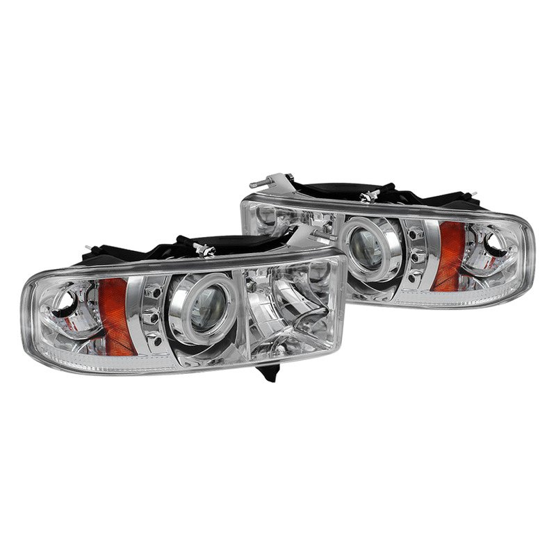 Spyder Black Projector Headlights With Sequential Turn Signals - Spyder PRO-YD-ATT08-HID-BK
