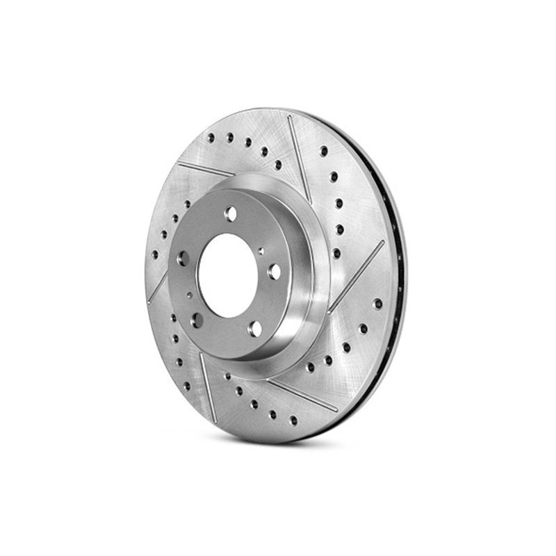 Centric Select Sport Drilled & Slotted Brake Rotor - Rear Right - Centric 227.51012R