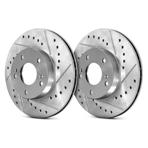 Centric Select Sport Drilled & Slotted Brake Rotor - Front Left - Centric 227.66026L