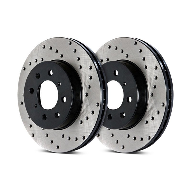 StopTech Sport Cryo Cross Drilled Brake Rotor - Rear Right - StopTech 128.63066R